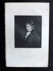 Charles Knight (Pub) 1830's Antique Portrait Print. Porson